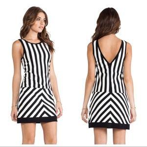 Sanctuary Black and White Striped Mondrian Dress